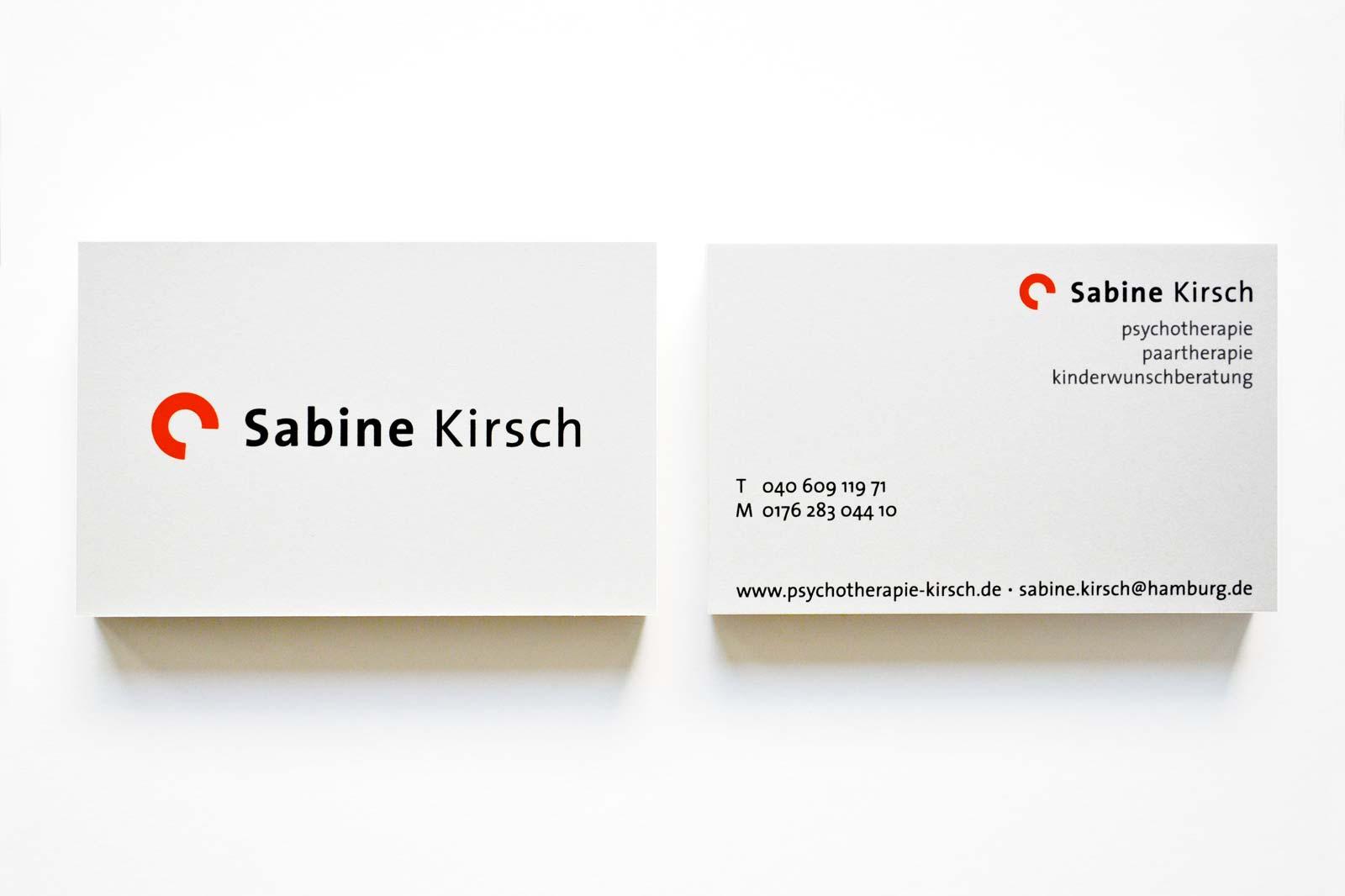 Sabine Kirsch Psychotherapie Uhedesign